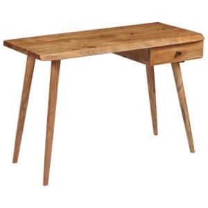 Secretária em madeira de acácia maciça 110x50x76 cm - PORTES GRÁTIS