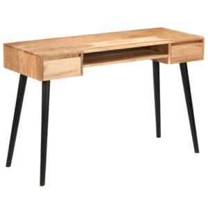 Secretária em madeira de acácia maciça 118x45x76 cm - PORTES GRÁTIS