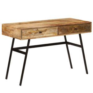 Secretária com gavetas madeira mangueira maciça 110x50x76 cm - PORTES GRÁTIS