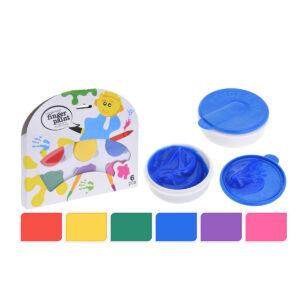 Jogo Pinta com os Dedos Kids Pack de 6 uds