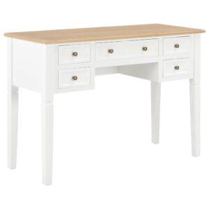 Secretária 109,5x45x77,5 cm madeira branco - PORTES GRÁTIS