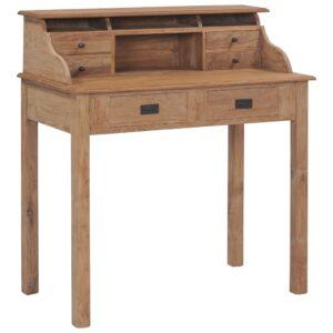 Secretária 90x50x100 cm madeira de teca maciça - PORTES GRÁTIS