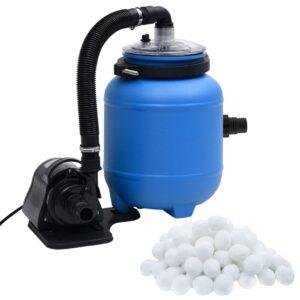 Bomba de filtro para piscina 4 m³/h preto e azul - PORTES GRÁTIS