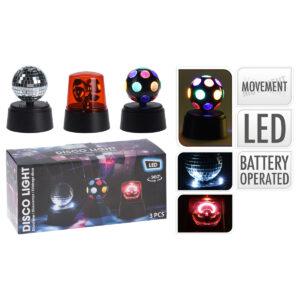 Luzes de discoteca LED Balls Pack de 3 uds