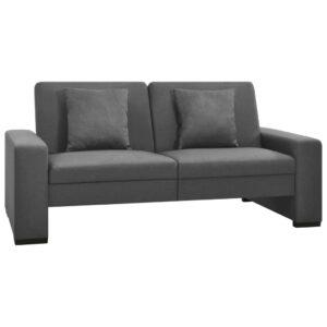 Sofá-cama em tecido cinzento-claro - PORTES GRÁTIS
