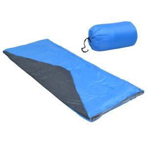 2 Sacos-cama de campismo leve tipo envelope 1100g 10 ºC azul - PORTES GRÁTIS