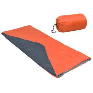 Saco-cama de campismo leve tipo envelope 1100g 10 ºC laranja - PORTES GRÁTIS