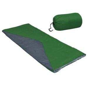 Saco-cama de campismo leve tipo envelope 1100g 10 ºC verde - PORTES GRÁTIS