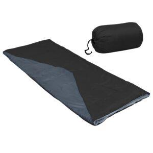 Saco-cama de campismo leve tipo envelope 1100g 10 ºC preto - PORTES GRÁTIS