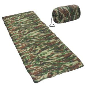 Saco-cama de campismo leve tipo envelope 1100g 10 ºC camuflagem - PORTES GRÁTIS