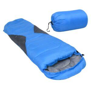 Saco-cama de campismo tipo múmia infantil leve 670g 10 ºC azul - PORTES GRÁTIS