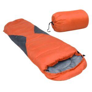 Saco-cama campismo tipo múmia infantil leve 670g 10 ºC laranja - PORTES GRÁTIS