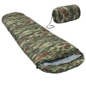 Saco-cama campismo múmia infantil leve 670g 10 ºC camuflagem - PORTES GRÁTIS
