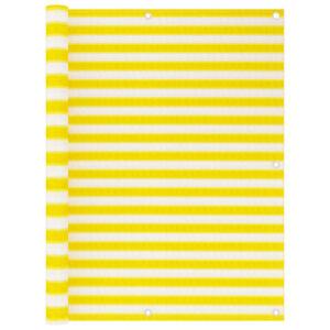 Tela de varanda 120x400 cm PEAD amarelo e branco - PORTES GRÁTIS