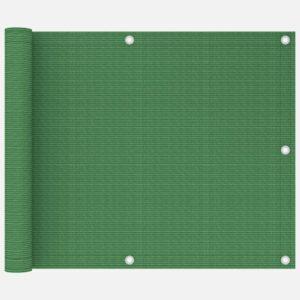 Tela varanda PEAD 75x400 cm verde-claro - PORTES GRÁTIS