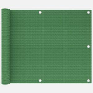 Tela de varanda 75x600 cm PEAD verde-claro - PORTES GRÁTIS