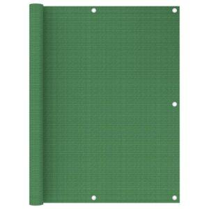 Tela de varanda 120x600 cm PEAD verde-claro - PORTES GRÁTIS