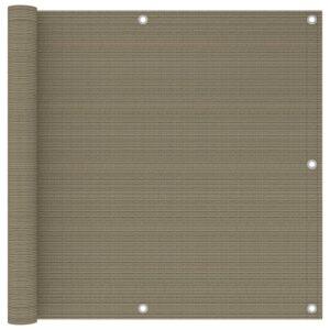 Tela de varanda 90x300 cm PEAD cor cinzento-acastanhado - PORTES GRÁTIS