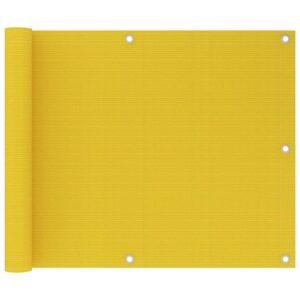 Tela de varanda 75x600 cm PEAD cor amarelo - PORTES GRÁTIS