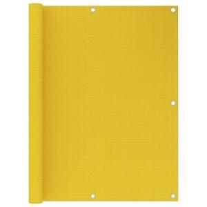 Tela de varanda 120x400 cm PEAD amarelo - PORTES GRÁTIS