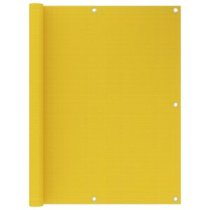 Tela de varanda 120x500 cm PEAD amarelo - PORTES GRÁTIS