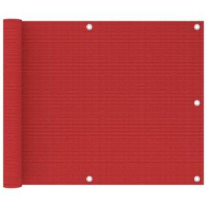 Tela de varanda 75x600 cm PEAD vermelho - PORTES GRÁTIS