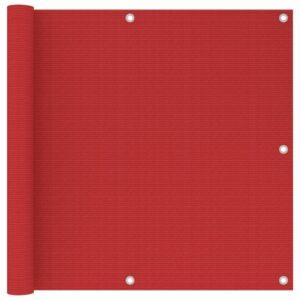 Tela de varanda 90x300 cm PEAD vermelho - PORTES GRÁTIS