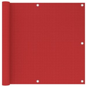 Tela de varanda 90x500 cm PEAD vermelho - PORTES GRÁTIS