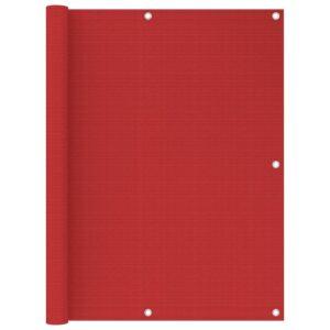 Tela de varanda 120x400 cm PEAD vermelho - PORTES GRÁTIS