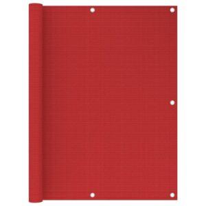 Tela de varanda 120x500 cm PEAD vermelho - PORTES GRÁTIS