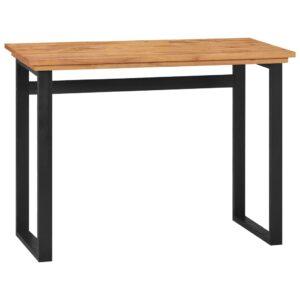 Secretária 100x45x75 madeira de teca maciça - PORTES GRÁTIS