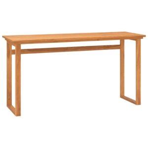 Secretária 140x45x75 madeira de teca maciça - PORTES GRÁTIS