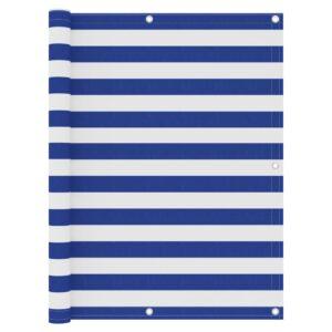 Tela de varanda 120x300 cm tecido Oxford branco e azul - PORTES GRÁTIS