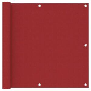 Tela de varanda 90x600 cm tecido Oxford vermelho - PORTES GRÁTIS