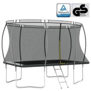 Conjunto de trampolim retangular 335x244x90 cm 150 kg - PORTES GRÁTIS