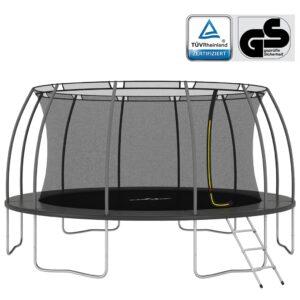 Conjunto de trampolim redondo 488x90 cm 150 kg - PORTES GRÁTIS