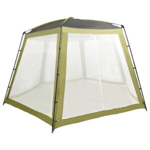 Tenda para piscina 500x433x250 cm tecido verde - PORTES GRÁTIS