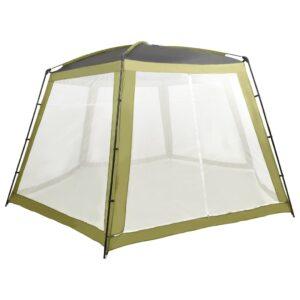 Tenda para piscina 590x520x250 cm tecido verde - PORTES GRÁTIS