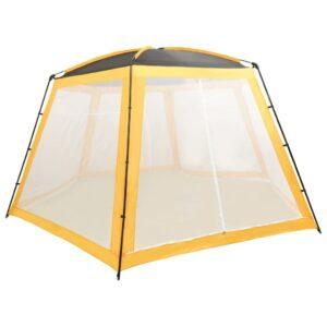 Tenda para piscina 590x520x250 cm tecido amarelo - PORTES GRÁTIS