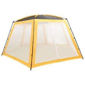 Tenda para piscina 660x580x250 cm tecido amarelo - PORTES GRÁTIS