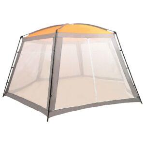 Tenda para piscina 660x580x250 cm tecido cinzento - PORTES GRÁTIS