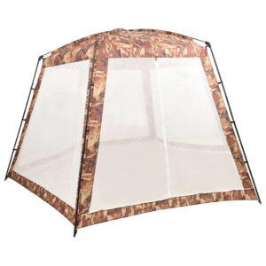 Tenda para piscina 500x433x250 cm tecido camuflagem - PORTES GRÁTIS