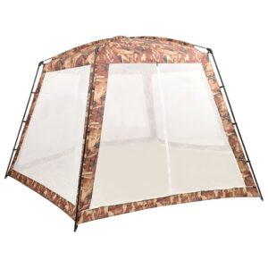 Tenda para piscina 590x520x250 cm tecido camuflagem - PORTES GRÁTIS