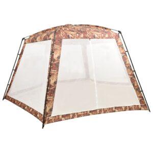 Tenda para piscina 660x580x250 cm tecido camuflagem - PORTES GRÁTIS