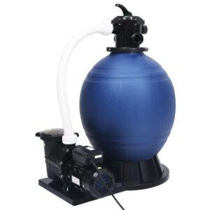 Filtro de areia válvula 7 posições e bomba 1000 W azul e preto - PORTES GRÁTIS