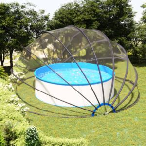 Cúpula de piscina 550x275 cm - PORTES GRÁTIS
