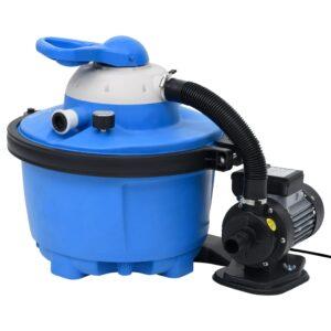 Bomba filtro de areia 385x620x432 mm 200 W 25 L azul e preta - PORTES GRÁTIS