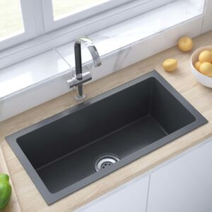 Lava-louça de cozinha artesanal com ralo aço inoxidável preto - PORTES GRÁTIS