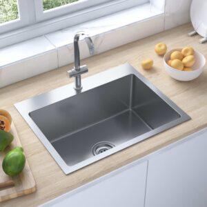 Lava-louça cozinha artesanal orifício torneira aço inoxidável - PORTES GRÁTIS