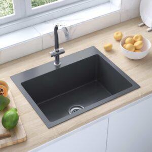 Lava-louça cozinha arte. orifício torneira aço inoxidável preto - PORTES GRÁTIS